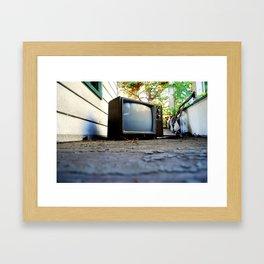 Abandoned Media Framed Art Print
