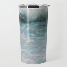 Watercolour Riverscape Travel Mug