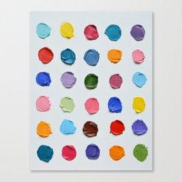 Rainbow Polka Daubs Canvas Print