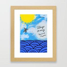 Make Waves Framed Art Print