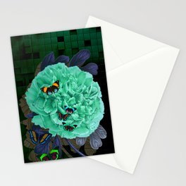 Blue Peonia Stationery Cards