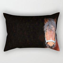 Mustang Photography Print Rectangular Pillow