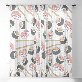 Happy Sashimi Sheer Curtain