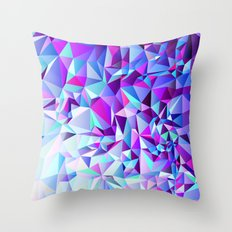 PURPLE+TEAL Throw Pillow