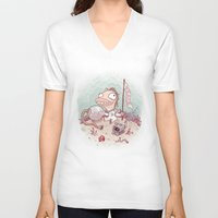 spaceman V-neck T-shirts featuring Spaceman by StarFil
