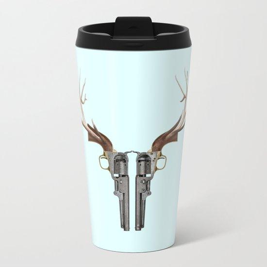 GUN SKULL Metal Travel Mug