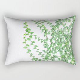 Green creepers climbing the wall Rectangular Pillow