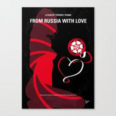 No277-007 My from Russia with love minimal movie poster Canvas Print