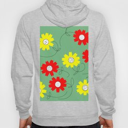 red and yellow coreopsis Hoody