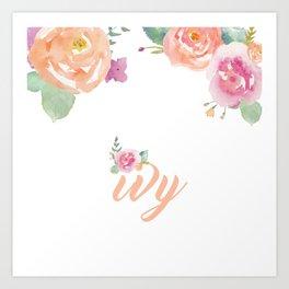 Ivy Florals Art Print
