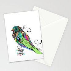 Colorful Bird Stationery Cards