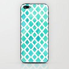 Watercolor Mint Diamonds iPhone & iPod Skin