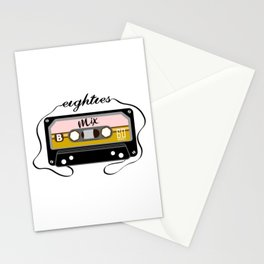 Eighties mix tape Stationery Cards