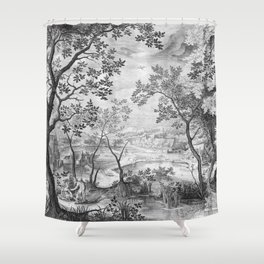 Landscape with Judah and Tamar Shower Curtain