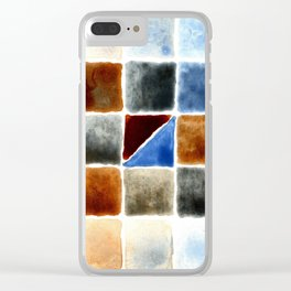 Color Chart - Burnt Sienna (W&N) and Cerulean Blue (DS) Clear iPhone Case