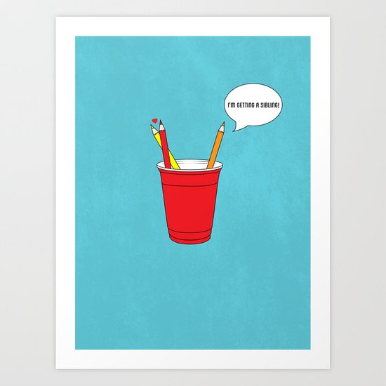 Get a Cup You Two ! Art Print