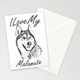I Love My Malamute Stationery Cards