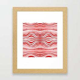 Rippled Red Framed Art Print
