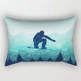 Snowboard Skyline II Rectangular Pillow