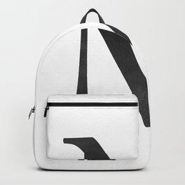 Letter M Initial Monogram Black and White Backpack