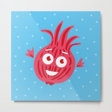 Cute Red Onion Metal Print