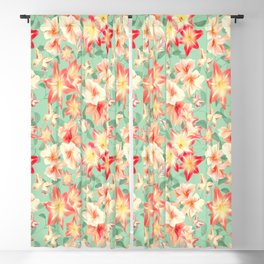 Spring Amaryllis and Butterflies Blackout Curtain