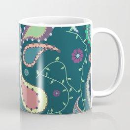 Boho Paisley on Blue Coffee Mug