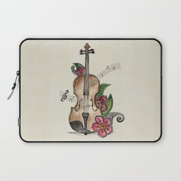 Violin and Flowers Laptop Sleeve