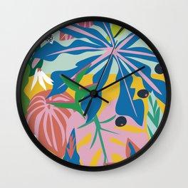 verde tropico Wall Clock