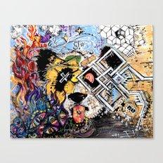 Dizzy Panda Canvas Print