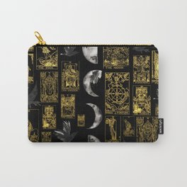 Beautiful Tarot Print with Raven and Moon Carry-All Pouch