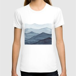 abstract watercolor mountains T-shirt