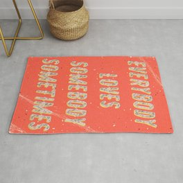 Everybody loves Somebody sometimes - A Hell Songbook Edition Rug