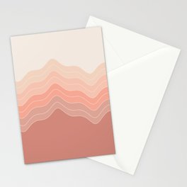 Blush Waves Stationery Cards