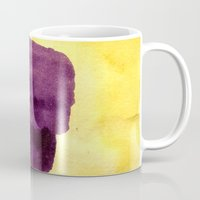 transparent Mugs featuring transparent Yellow by seb mcnulty