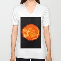 apollo V-neck T-shirts featuring Apollo by mkpowellart