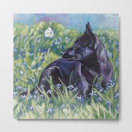 beautiful Australian Kelpie dog art from an original painting by L.A.Shepard Metal Print