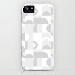 Gray Domio Mosaic (Landscape) iPhone Case