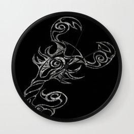 Scorpion in Reverse Wall Clock