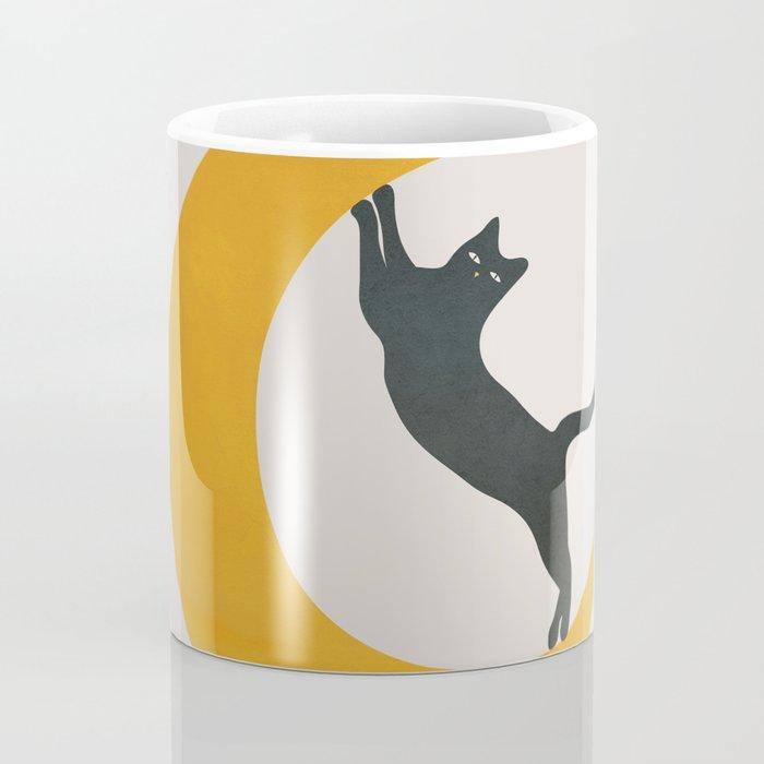 Moon and Cat Coffee Mug