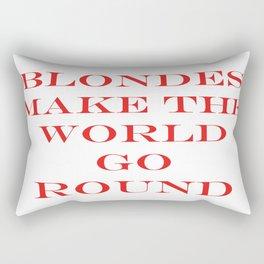 Blondes Make The World Go Round Red Rectangular Pillow