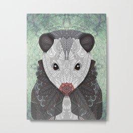 Ornate Opossum Metal Print