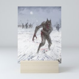 Wounded Wolf Mini Art Print