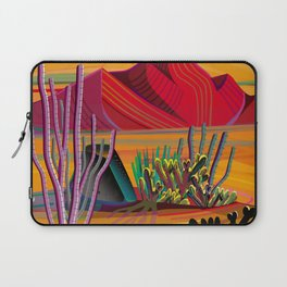 Cactus Garden Sunset Square Laptop Sleeve