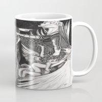 return Mugs featuring Perseus' Return by Morgan Fay