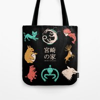 miyazaki Tote Bags featuring House of Miyazaki by le.duc