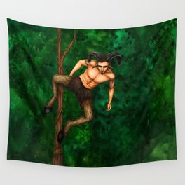 Pole Creatures - Faun Wall Tapestry