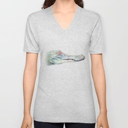 Albino Alligator Unisex V-Neck