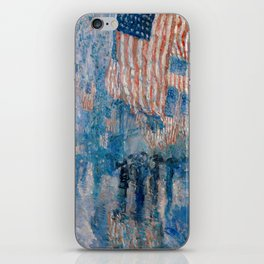 The Avenue in the Rain by Childe Hassam, 1917 iPhone Skin