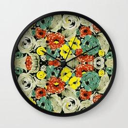 Floral Impressions Wall Clock
